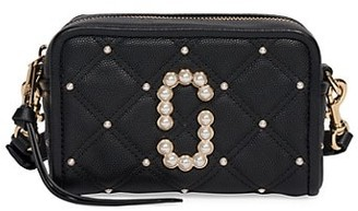 Marc Jacobs The Softshot Embellished Quilted Leather Camera Bag