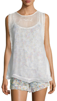 Free People Pretty Baby Printed Sleeveless Top