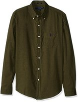 U.S. Polo Assn. Men's Slim Fit Brushed Twill Button Down Collar Solid Woven Shirt
