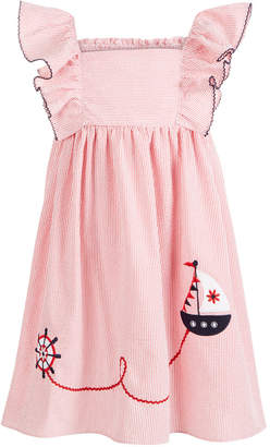 Good Lad Toddler Girls Seersucker Sailboat Dress