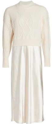 DH New York Combo Midi Sweater Dress