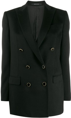 Tagliatore Fitted Double-Breasted Blazer