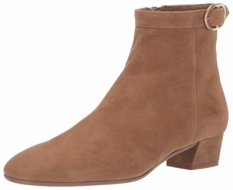 Aquatalia Nila Dress Suede Bootie Tan