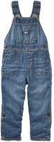 Osh Kosh Jersey-Lined Convertible Denim Overalls