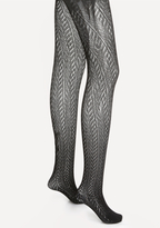 Bebe Chevron Pattern Tights