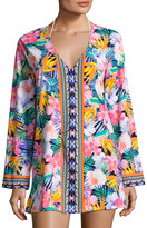 LaBlanca La Blanca Tropical Floral-Print Cover-up, Multi