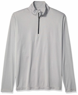 Clementine Men's ULTC-8235-Striped 1/4-Zip Pullover