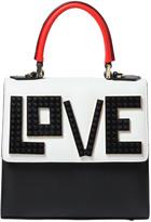 Les Petits Joueurs Mini Alex Love Leather Top Handle Bag