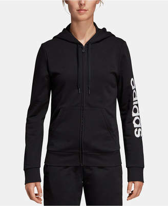 adidas Women Linear Logo Fleece Hoodie
