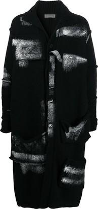 Yohji Yamamoto Spread-Collar Cardi-Coat