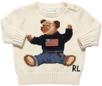 Ralph Lauren Bear Intarsia Cotton Knit Sweater