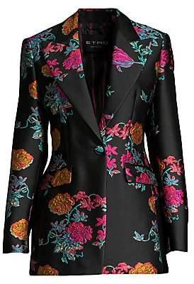 Etro Women's Satin Floral Jacquard Jacket