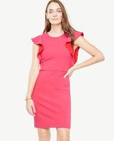 Ann Taylor Ruffle Sleeve Sheath Dress