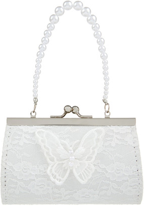 Monsoon Lace And Pearl Butterfly Mini Bag