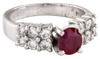 Ring Platinum Ruby & Diamond