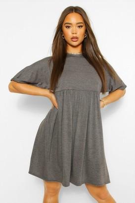 boohoo Batwing Sleeve Smock Dress