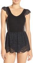 For Love & Lemons Women's 'Daisy' Lace Skirted Bodysuit