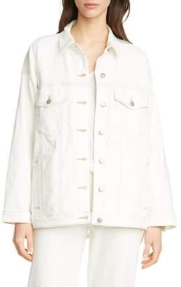 Eileen Fisher Classic Collar Organic Cotton Denim Jacket