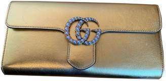 Gucci Marmont Gold Leather Clutch bags