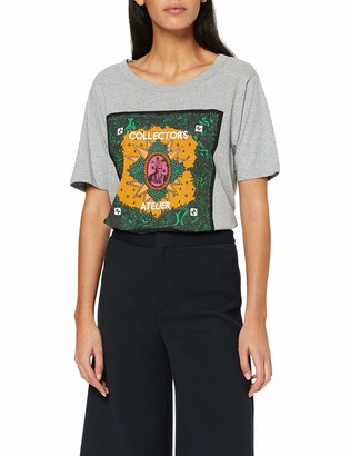 Scotch & Soda Maison Women's Relaxed Fit Tee with Artworks T-Shirt