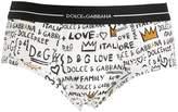 Dolce & Gabbana Brando Printed Cotton Jersey Briefs