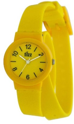 Fizz 5012132 Fun - Wristwatch Unisex Silicone Band Colour: Yellow