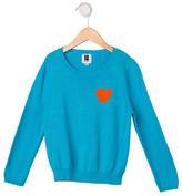 Lisa Perry Girls' Intarsia Rib Knit Sweater