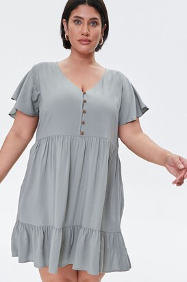 Forever 21 Plus Size Tiered Mini Dress