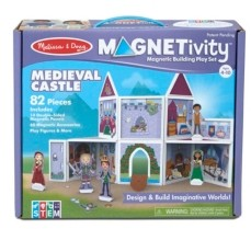 Melissa & Doug Melissa Doug 82-Piece Magnetivity Magnetic Building Play Set - Medieval Castle 14 Panels, 63 Accessory Magnets