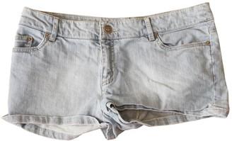 Bonpoint Blue Cotton Shorts for Women