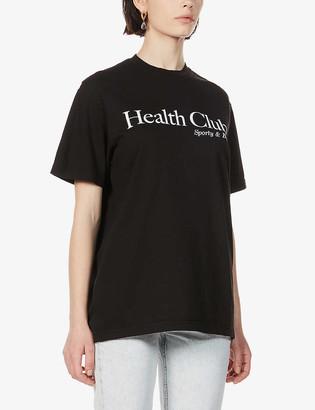 Sporty & Rich Health Club cotton-jersey T-shirt