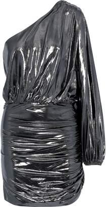 Mason by Michelle Mason One-sleeve Ruched Silk-chiffon Mini Dress