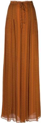 Dvf Diane Von Furstenberg Abstract Print Drawstring Skirt