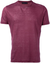 Etro crew-neck T-shirt - men - Linen/Flax - M