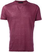 Etro crew-neck T-shirt - men - Linen/Flax - S