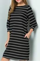 Cezanne Black Striped Dress