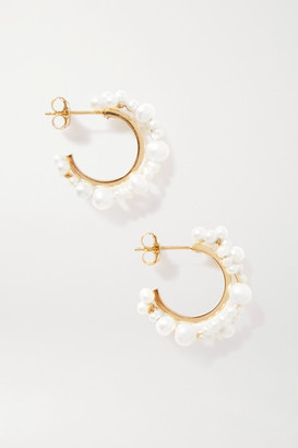 COMPLETEDWORKS Stratus Gold Vermeil Pearl Earrings - White