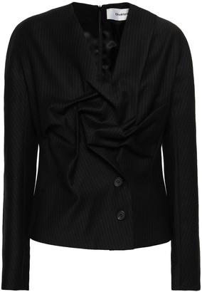 Chalayan Pinstriped Twill Jacket