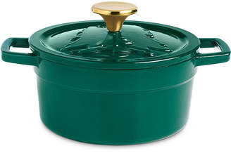 Martha Stewart Collection 2-Qt. Green Embossed Enameled Cast Iron Dutch Oven