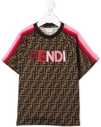 Fendi Kids TEEN FF print T-shirt