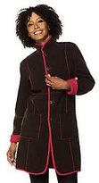 As Is Susan Graver Reversible Fleece Coat