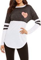 Miss Chievous Colorblock Love Sequin Sweeper Tee