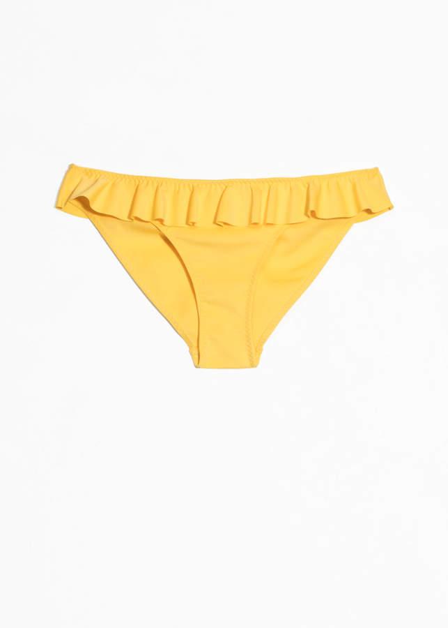 2d900f9dbf9 Yellow Ruffled Bikini Swimwear - ShopStyle