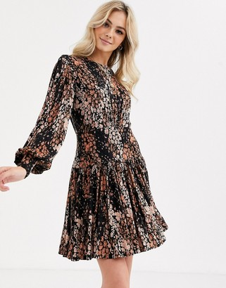 Free People heartbeats mini jersey dress-Black