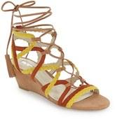 BCBGeneration Women's 'Vanda' Lace-Up Wedge Sandal