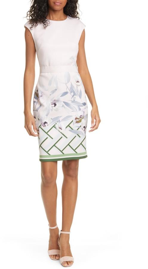 Ted Baker Hailey Everglade Body-Con Dress