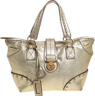 Dolce & Gabbana Metallic Gold Leather Shoulder Bag