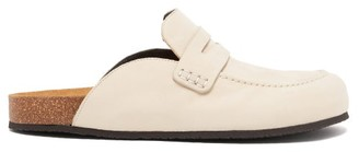 J.W.Anderson Backless Suede Loafers - Womens - Beige