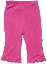 Kickee Pants Ruffle Pant (Baby) - Flamingo-Newborn
