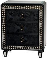 Pulaski Furniture Art Deco 3-Drawer Aska Black Chest